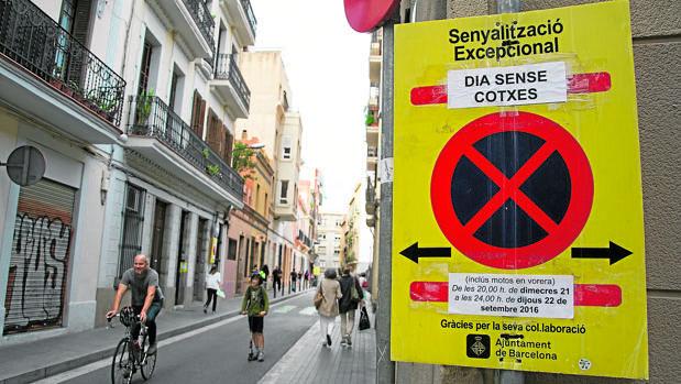 Calles cortadas en Barcelona para los coches