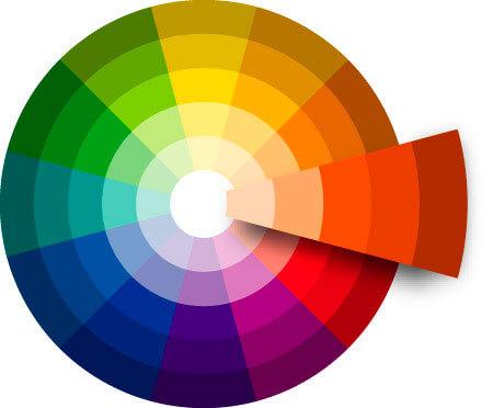 Circulo cromático de colores para tu vehículo